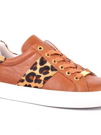 Ténis pele com pêlo leopardo