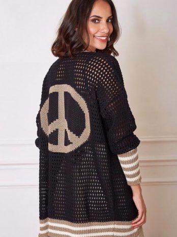 Casaco com capuz simbolo da paz