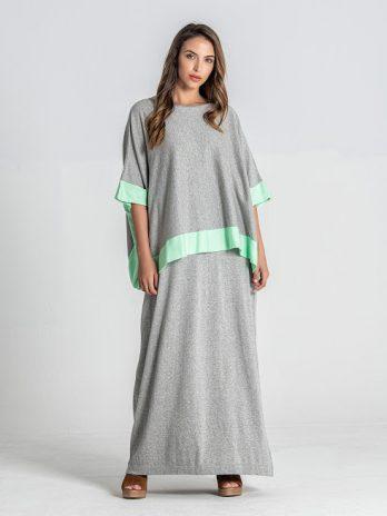 Vestido alças com capa