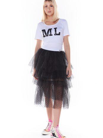 T-shirt ML lantejoulas