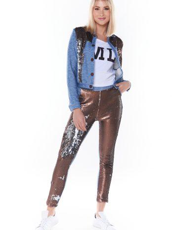 Calças jeans com lantejoulas