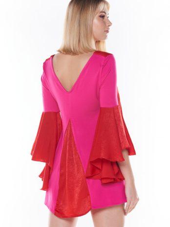 Vestido/túnica 2 tecidos