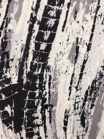 Macacão estampado meia manga