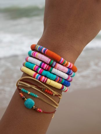 Pulseira color missangas