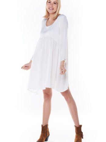 Vestido/túnica cetim assimétrico