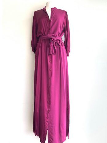 Vestido camiseiro duplo tecido