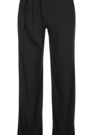 Pantalona laçada com abertura lateral