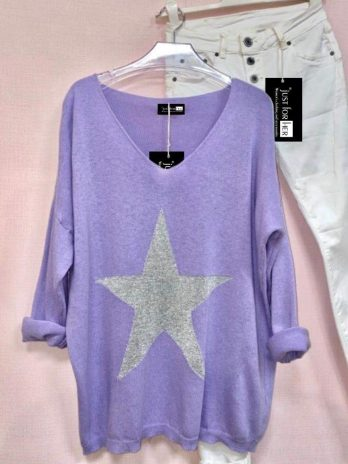 Pull estrela lurex