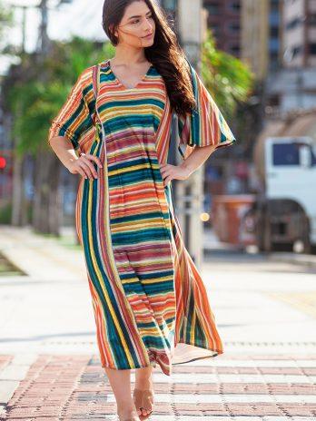Vestido longo chanel