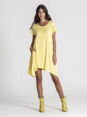 Vestido básico pontas