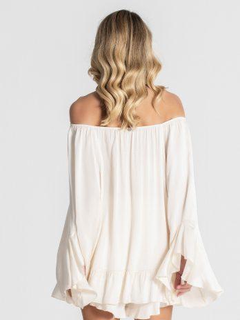 Blusa ombros descobertos com folho