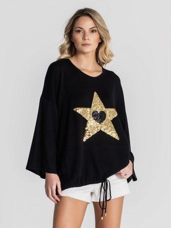 Camisola estrela com atilho