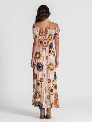 Vestido padrão étnico