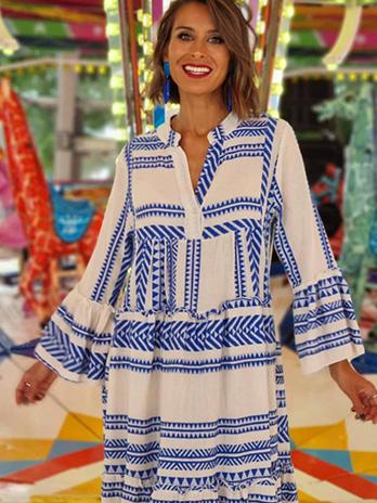 Vestido Comprido Étnico