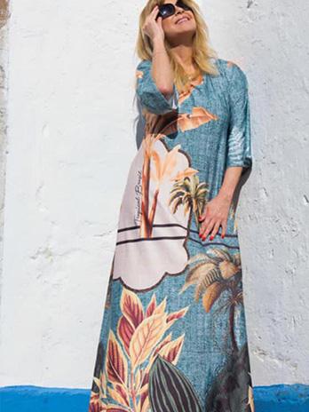 Vestido Palmeira
