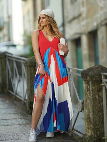 Vestido Alça Larga Bicos
