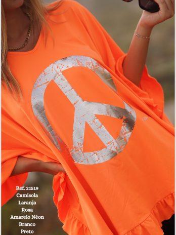Túnica símbolo da paz com folho