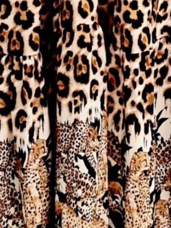 Vestido longo leopardos