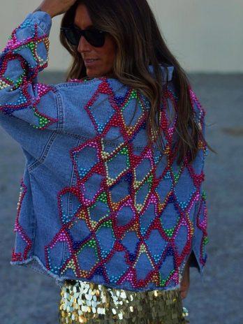 Blusão ganga com bolas color